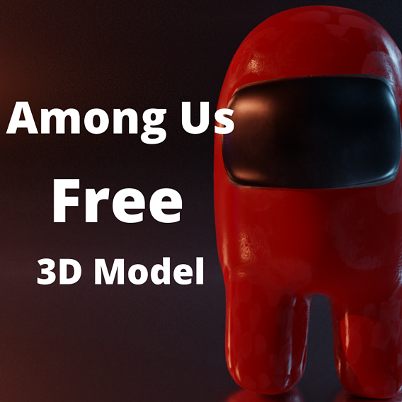 Among Us - All Colored Characters - Rigged Free low-poly 3D model