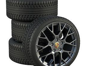 3D model Porsche wheels