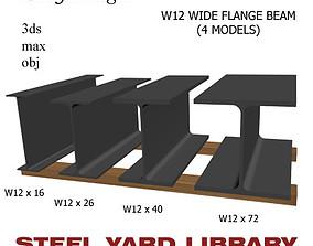 3D W12 Wide Flange Beam