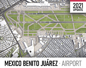 3D asset VR / AR ready Mexico City Airport
