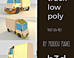 TRUK LOW POLY 3D asset realtime