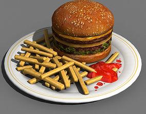3D asset Burger