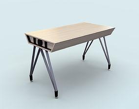 Modern Study Table 3D