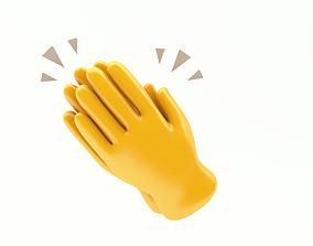 3D asset EMOJI CLAPPING HANDS