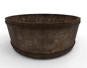 3D model Medieval wooden washing tub