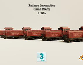 3D asset Railway Locomotive