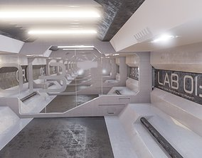 sci-fi laboratory tunnel 3D model