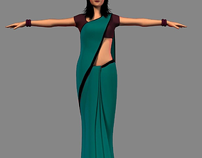 Indian Girl 3D asset