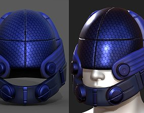Helmet military Scifi futuristic 3D model