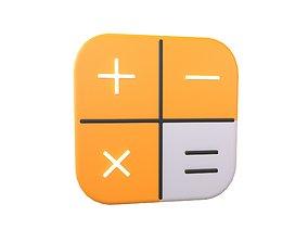 3D model IOS Calculator Icon v2 001