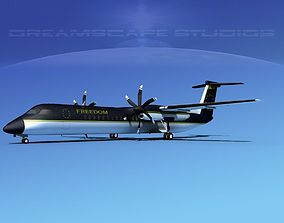 Dehaviland DHC-8 400 Freedom Express 3D model