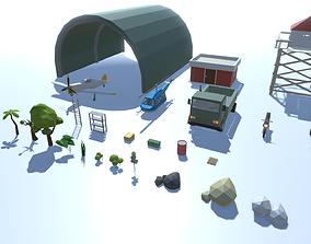 3D asset Desert Airfield Pack