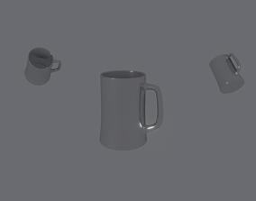 3D model VR / AR ready Beer Mug