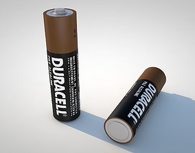 3D model electronics AA Battery