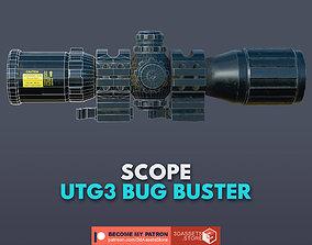 Weapon - Scope - 12 - UTG3BugBuster 3D asset
