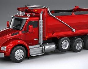 Kenworth T880 Tipper 2017 LowPoly 3D model