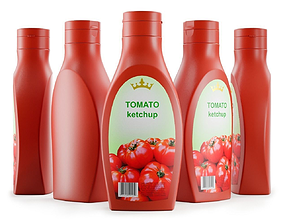 Plastic Tomato Ketchup Bottle 3D model