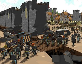 Lowpoly medieval asset VR / AR ready