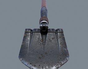 German sapper shovel WW2 3d model low-poly
