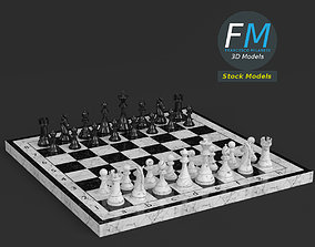 Chess set 3D PBR