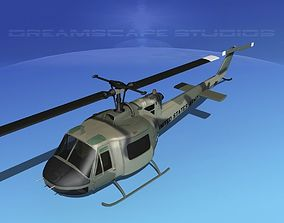 3D model Bell UH-1B Iroquois US Army SF