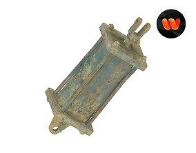 3D model Old Hydraulic Cylinder Raw Scanned