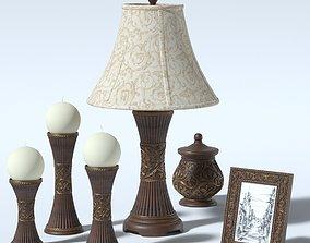 3D model Decorative interior set by Ashley 6 piece