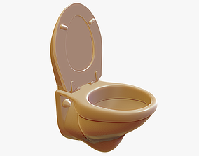 3D print model Wall Mounted Toilet