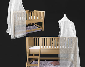 3D Bunk Bed kids with canopy