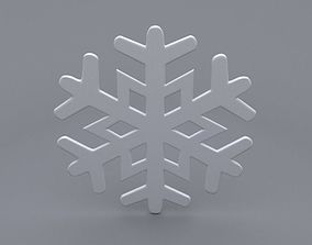snowflake 3D model frozen