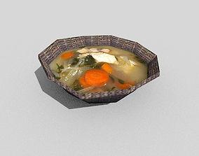 3D model low poly fish soup