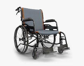 3D model Light wheelchair manual 02