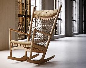 3D Hans Wegner PP124 chair