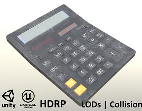 3D asset Calculator Dirty - Unity - HDRP - UE4