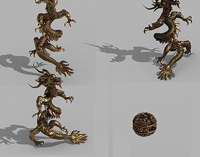 3D model Shabak-Bronze Dragon and Ball