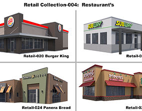 Retail Collection-004 Restaurants 3D