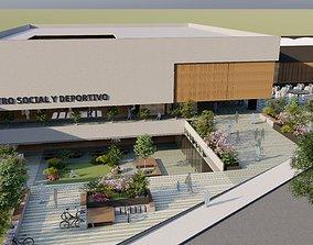 Social Center and Sports Center 3D