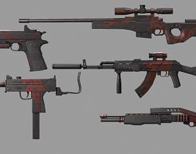 3D Gun collection Red Dragon