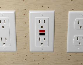 socket 3D Electrical Outlets