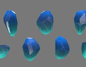 3D asset realtime Crystal heightmap