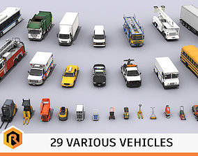 Various Vehicles Mega Bundle 3D