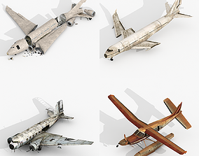 Damage Airplanes Collection 3D model
