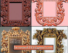 3D print model Collection of Mirror classical carved