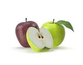 Realistic Apple Fruit 3D model
