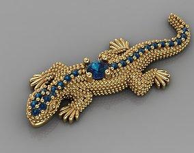 Lizard Jewelry Diamond 3D printable model