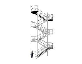 metal stairs 3D model