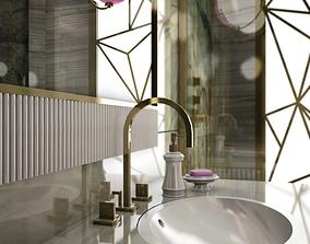 interior modern photorealistic bathroom 3D model