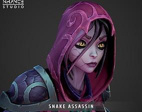 3D asset Stylized Snake Assassin Hero