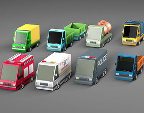 Complete Cartoon Vehicle Pack 3D model game-ready