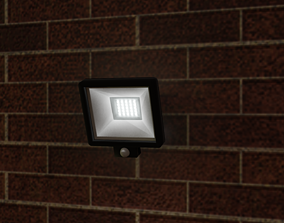 Wall Mounted Exterior Security Light 3D model